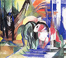Three Horses at a Watering Place 1913 - Franz Marc