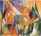 Mythical Beast II horse 1913 - Franz Marc reproduction oil painting