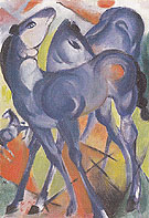 Blue Foals 1913 - Franz Marc reproduction oil painting
