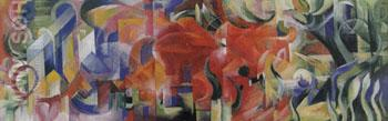 Playing Forms - Franz Marc reproduction oil painting
