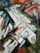 The Stony Path c1911 - Franz Marc reproduction oil painting