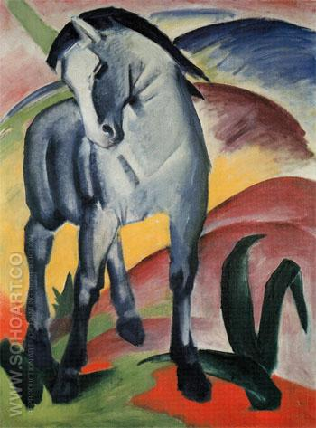 Blue Horse I 1911 - Franz Marc reproduction oil painting