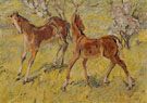 Foals at Pasture 1909 - Franz Marc