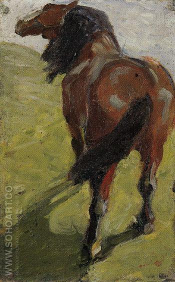 Study of a Horse c1908 - Franz Marc reproduction oil painting