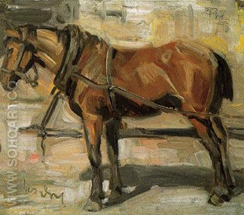 Small Study of a Horse I 1905 - Franz Marc reproduction oil painting