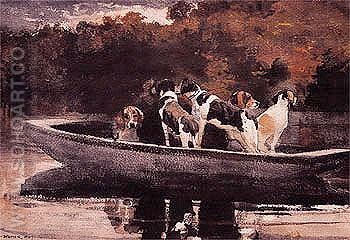Waiting for the Start 1889 - Winslow Homer reproduction oil painting