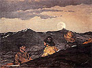 Kissing the Moon 1904 - Winslow Homer reproduction oil painting