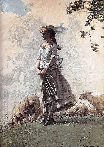 Fresh Air 1878 - Winslow Homer reproduction oil painting