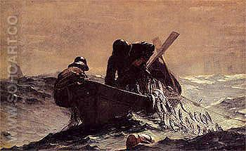 The Herring Net 1885 - Winslow Homer reproduction oil painting