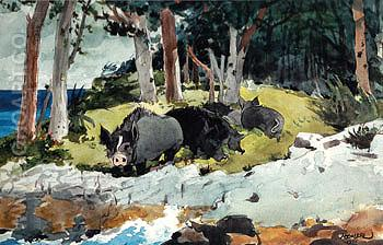 Bermuda Settlers 1901 - Winslow Homer reproduction oil painting