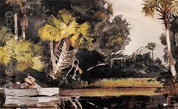 Homosassa Jungle 1904 - Winslow Homer reproduction oil painting