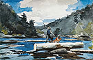 Hudson River Logging 1892 - Winslow Homer reproduction oil painting