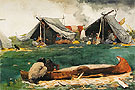 Montagnais Indians Making Canoes 1895 - Winslow Homer