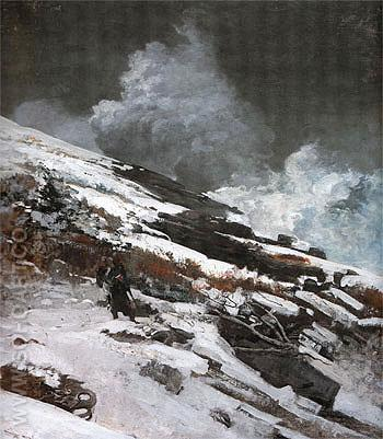 Winter Coast 1890 - Winslow Homer reproduction oil painting