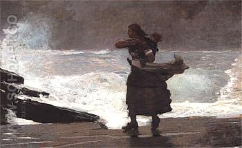 The Gale 1893 - Winslow Homer reproduction oil painting