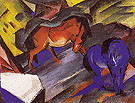 Red and Blue Horse 1912 - Franz Marc