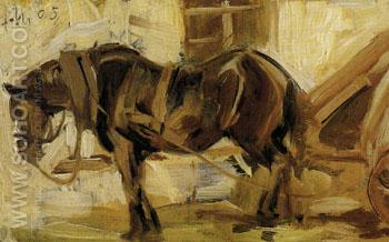 Small Horse Study II 1905 - Franz Marc reproduction oil painting