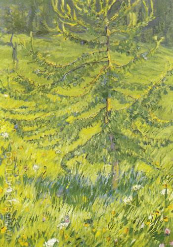 Larch Sapling 1908 - Franz Marc reproduction oil painting
