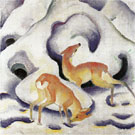 Deer in the Snow - Franz Marc reproduction oil painting