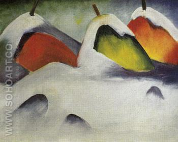 Stooks in the Snow 1911 - Franz Marc reproduction oil painting