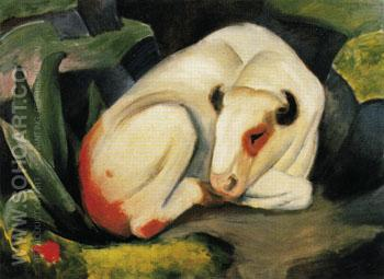 The Bull 1911 - Franz Marc reproduction oil painting