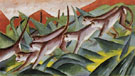 Monkey Frieze 1911 - Franz Marc reproduction oil painting