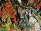 In the Rain 1912 - Franz Marc reproduction oil painting