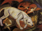 Three Animals Dog Fox and Cat 1912 - Franz Marc