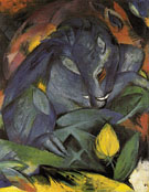 Wild Pigs Boar and Sow 1913 - Franz Marc reproduction oil painting