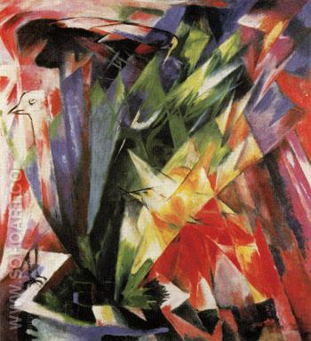 Birds 1914 - Franz Marc reproduction oil painting