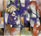Lying Bull 1913 - Franz Marc reproduction oil painting