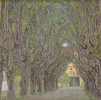 Avenue in Schloss Kammer Park 1912 - Gustav Klimt reproduction oil painting