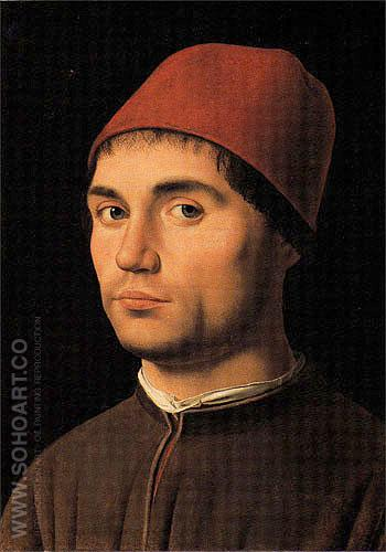Portrait of a Young Man c1475 - Antonello da Messina reproduction oil painting