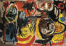 People Birds and Sun 1954 - Karel Appel