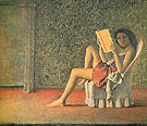Katia Reading c1968 - Balthus reproduction oil painting