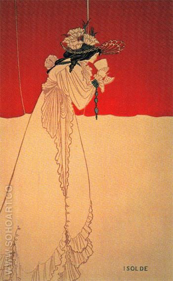 Isolde 1895 - Aubrey Vincent Beardsley reproduction oil painting