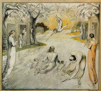 The River of Life c1805 - William Blake reproduction oil painting