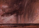 Seascape Study with Rain Clouds c1824 - John Constable reproduction oil painting