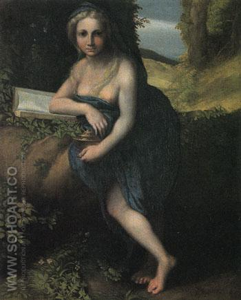 The Magdalene c1517 - Antonio Allegri da Correggio reproduction oil painting