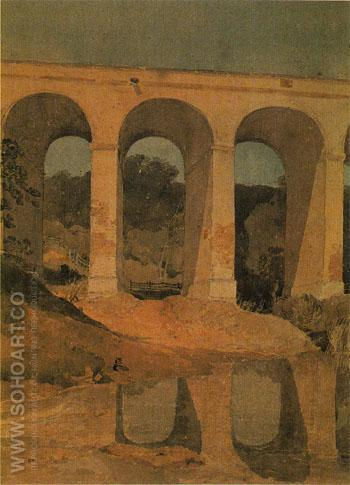 Chirk Aqueduct Wales c1804 - John Sell Cotman reproduction oil painting