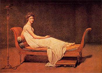 Madame Recamier 1800 - Jacques Louis David reproduction oil painting