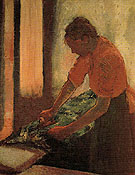 Woman Ironing c1885 - Edgar Degas reproduction oil painting