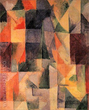 Windows Open Simultaneously 1912 - Robert Delaunay reproduction oil painting