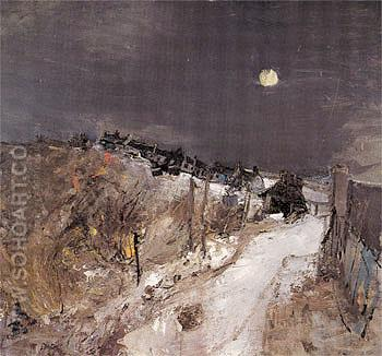 Catterline in Winter c1963 - Joan Eardley reproduction oil painting