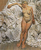 Standing By The Rags c1988 - Lucien Freud