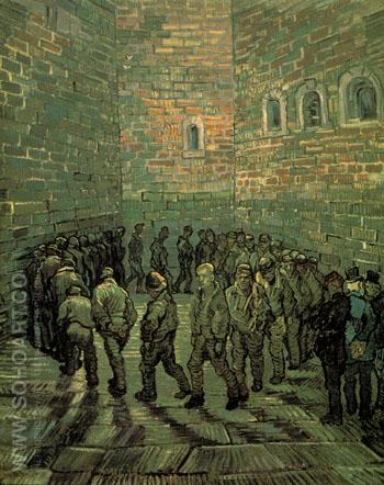 Prisoners Exercising 1890 - Vincent van Gogh reproduction oil painting