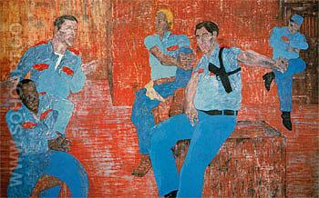 The Go Ahead c1985 - Leon Golub reproduction oil painting