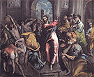 Christ Driving the Traders from the Temple c1600 - El Greco reproduction oil painting