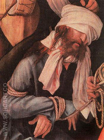 The Mocking of Christ 1503 - Mathis Grunewald reproduction oil painting