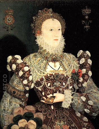 Queen Elizabeth I Pelican Portrait c1572 - Nicholas Hilliard reproduction oil painting